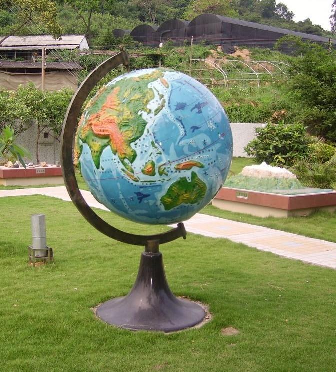 地球仪雕塑007-地球仪雕塑-山东济南雕塑|不锈钢雕塑|校园雕塑|玻璃钢雕塑-济南富源雕塑