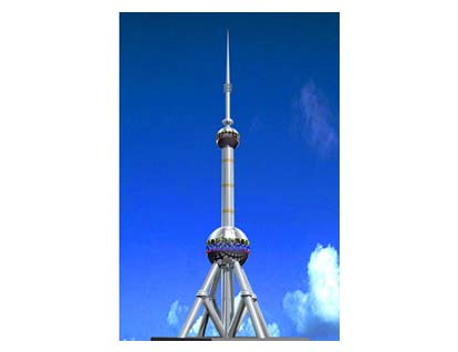 楼顶装饰塔系列-山东济南雕塑|不锈钢雕塑|校园雕塑