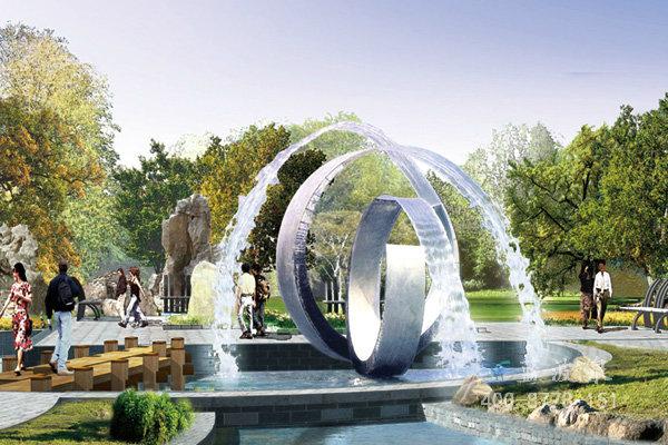 雕塑002-喷泉雕塑-山东济南雕塑|不锈钢雕塑|校园